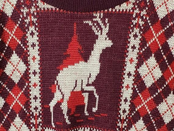 Christmas Catalina Sportswear Sweater Reindeer Wo… - image 7