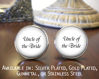 SALE! Uncle of the Bride Personalized Cufflinks- Cyber Monday