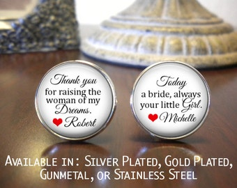 SALE! Father of the Bride Cufflinks - Personalized Cufflinks - Father of the Bride - Father of the Bride Cufflinks- Cyber Monday