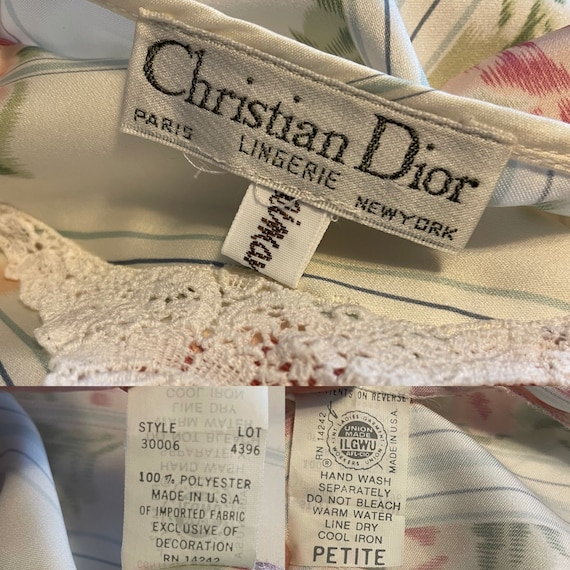 DIOR Vintage Nightgown 1980s Christian Dior Flora… - image 7