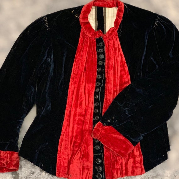 1890s Victorian Antique Corset Top/Bodice/Coat/Ja… - image 3