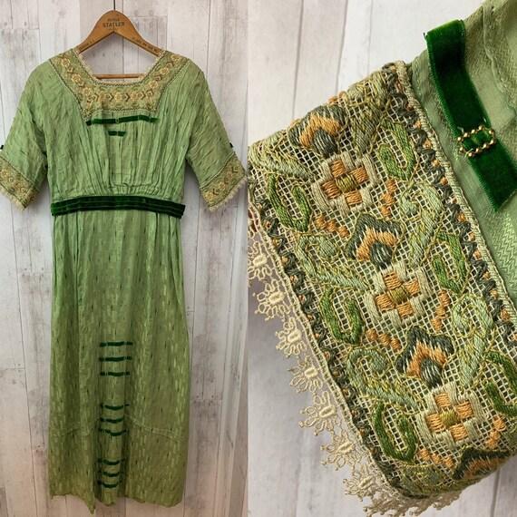 1900s-Antique Edwardian DRESS/GOWN Paul Poiret Per