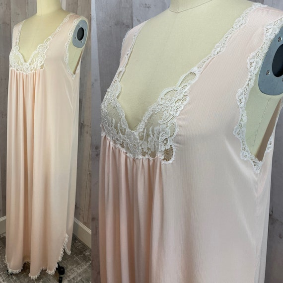 DIOR Vintage Nightgown 1980s Christian Dior Apric… - image 5