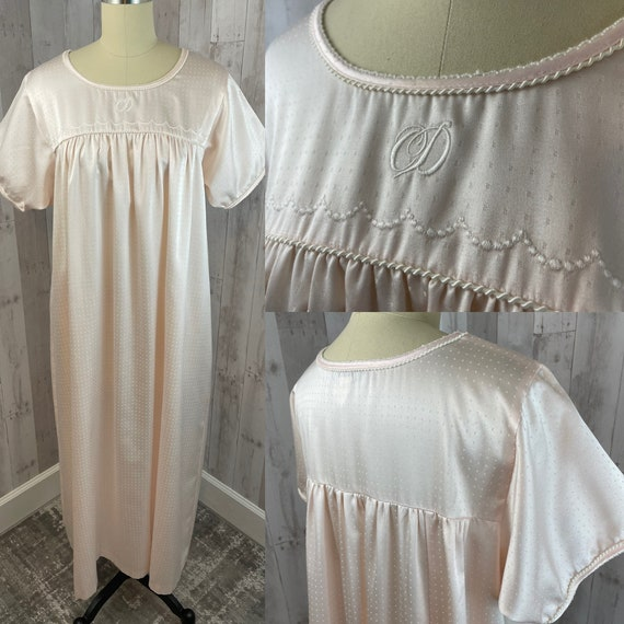 DIOR Vintage Nightgown 1970s Christian Dior Pale P