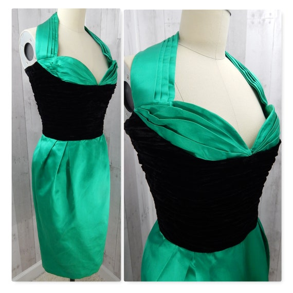DIOR Vintage Dior 1980s Christian Dior Dress Silk… - image 4