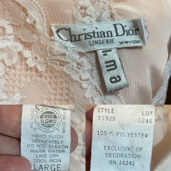 DIOR Vintage Nightgown 1980s Christian Dior Apric… - image 10