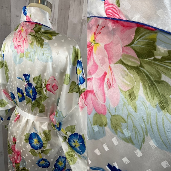 DIOR Vintage 1980s Christian Dior Satin Floral Ro… - image 5