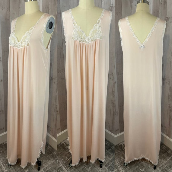 DIOR Vintage Nightgown 1980s Christian Dior Apric… - image 3