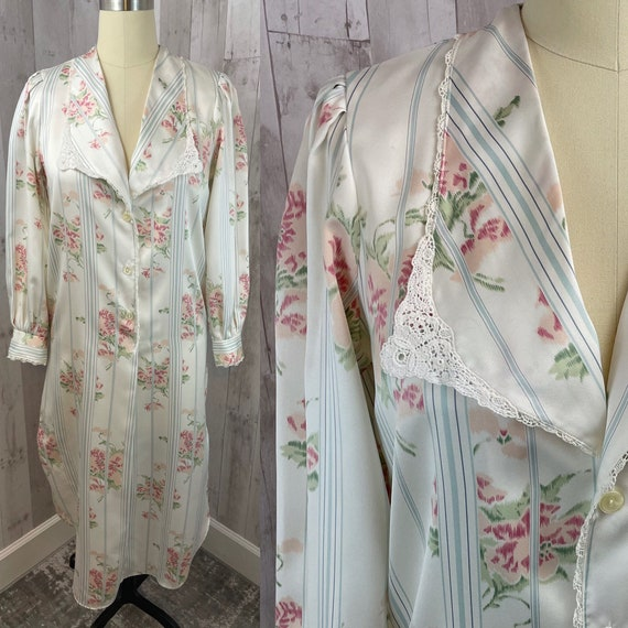 DIOR Vintage Nightgown 1980s Christian Dior Flora… - image 1