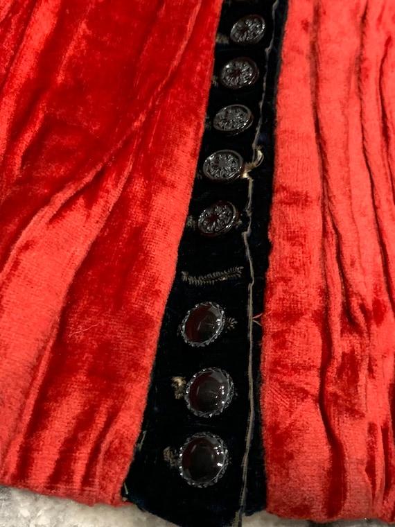 1890s Victorian Antique Corset Top/Bodice/Coat/Ja… - image 10