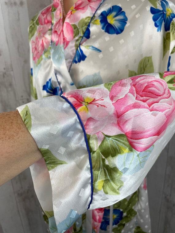 DIOR Vintage 1980s Christian Dior Satin Floral Ro… - image 9