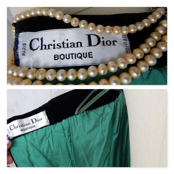 DIOR Vintage Dior 1980s Christian Dior Dress Silk… - image 10