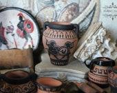 Dollhouse Miniature Ancient Greece amphora hand painted