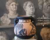 Dollhouse Miniature Ancient Greece hand painted amphora with the Ajax suicide. OOAK