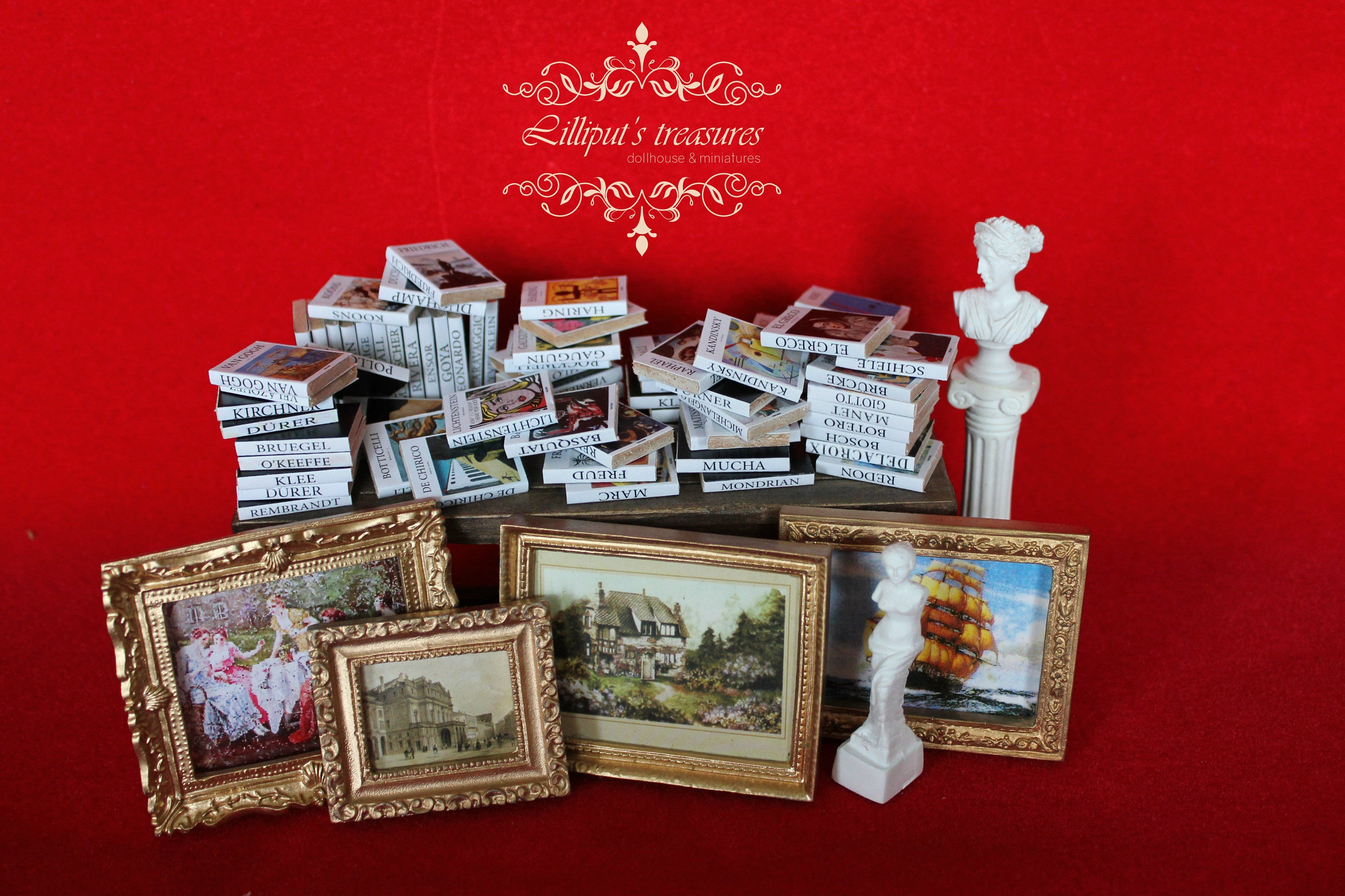 MADE IN AMERICA FAST DELIVERY!! Renoir SEWING Dollhouse Picture Miniature Art