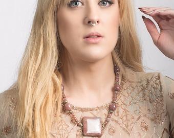 Theodora Choker Statement Necklace - Gemstone & Vermeil Handmade Jewelry