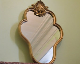 LARGE Antique French Gold Gilt Wood Mirror in Good Condition - More than 70 years old -Antique Wall Mirror -The Real Thing -Ancient Elegance