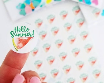 Summer watermelon stickers small business packaging