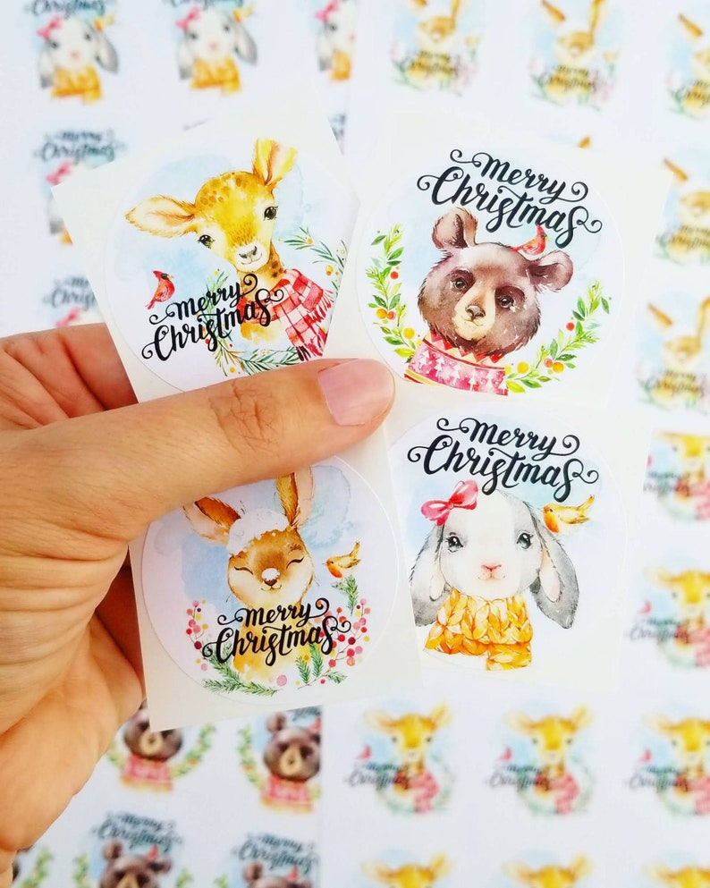 variety pack merry Christmas holiday forest animals nativity image 0