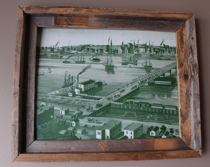 Toledo 1876 Abstract Historic Print - Unframed