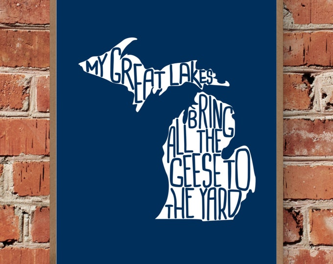 My Great Lakes Bring All The Geese To The Yard - Michigan - Great Lakes - Fine Art Print - Unframed (Multiple Sizes)