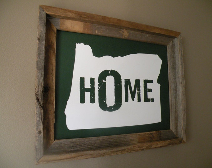 Oregon Home Print (Green) - Unframed