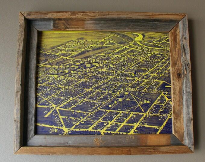 Ann Arbor 1880 Abstract Historic Print - Unframed