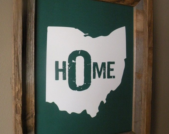 Ohio Home Print - Green - Unframed