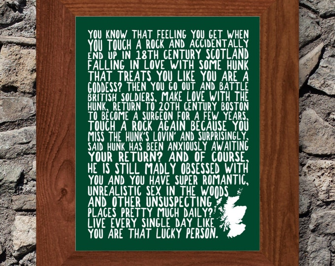 Outlander - Live Every Day Like You Are In Outlander Fine Art Word Print (Dark Green) - Unframed