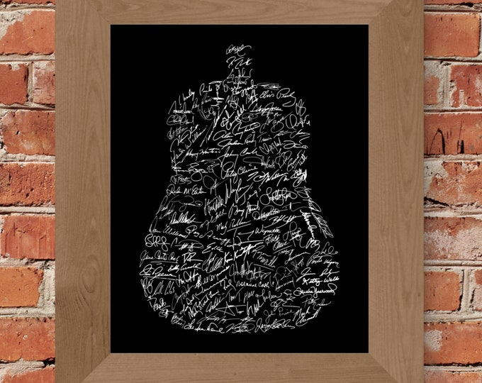 Signatures of Country Music History (Black) Fine Art Print - Unframed