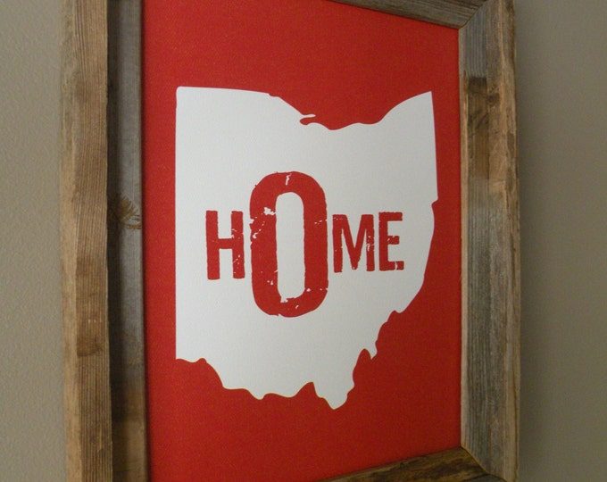 Ohio Home Print - Red - Unframed