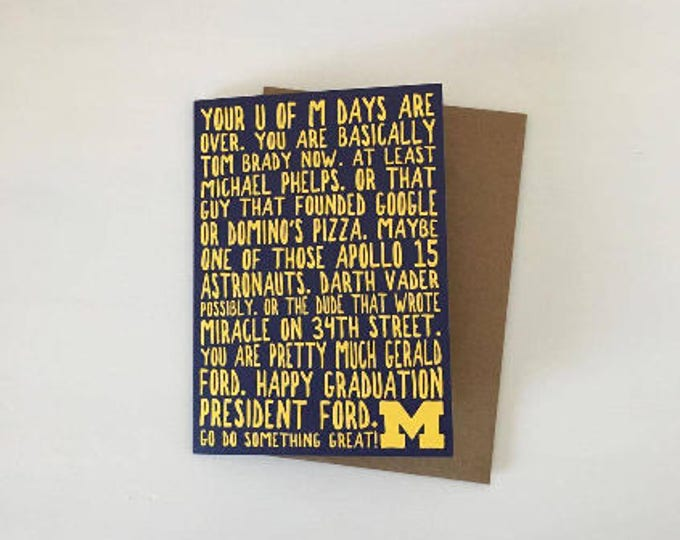 University of Michigan Graduation Card