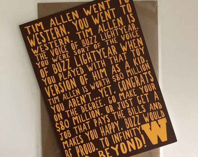 Western Michigan University Graduation Card