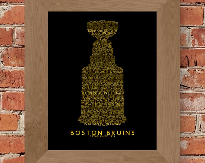 Great Calls of Boston Bruins History Stanley Cup Fine Art Print - Unframed