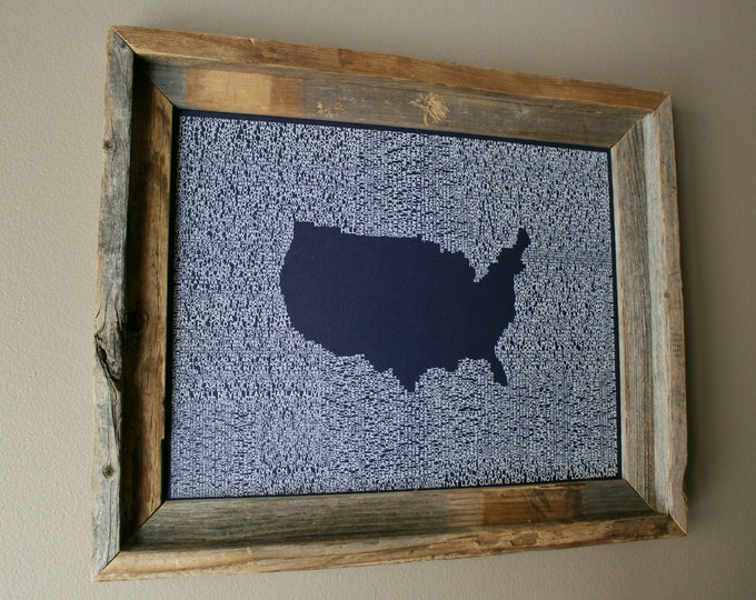 The Geography of Country Music Print (Dark Blue) - Unframed