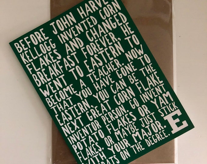 Eastern Michigan University Graduation Card