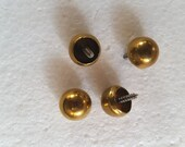 Vintage Brass Ball Screw In Jewelry Box Feet Box Hardware Doll House Jewelry Craft Box Tea Caddy Clock Feet Set of 4 Pieces 1 2 quot Diameter