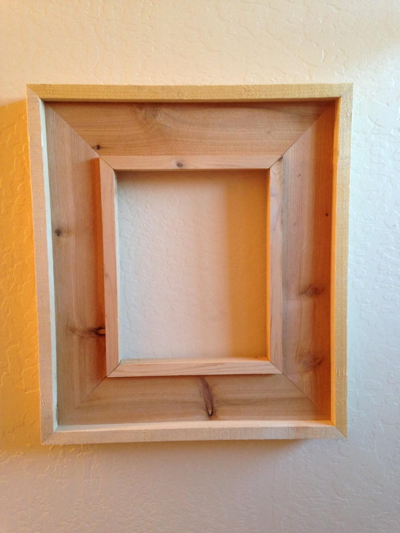 southwest mexican rustic style wood picture frame red cedar 8 etsy rh etsy com