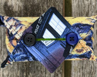 Kleenex Cover, Travel Tissue Holder, Pocket Tissue Cover, Dr Who