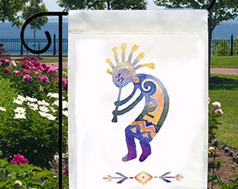 kokopelli spirit of music new small garden flag boat bar home native american - Small Garden Flags