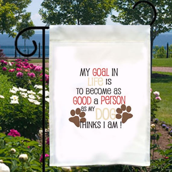 Bonne personne objectif nouveau petit jardin drapeau cadeaux événements amusant de chien