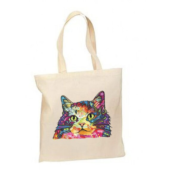 432d7f5edb50 Artsy Neon Cat New Lightweight Cotton Tote Bag Gifts Events