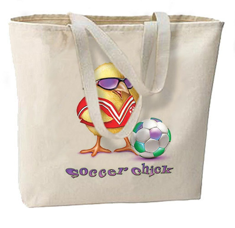 Soccer Chick Large Tote Sports Games Gifts Events Moms Shop