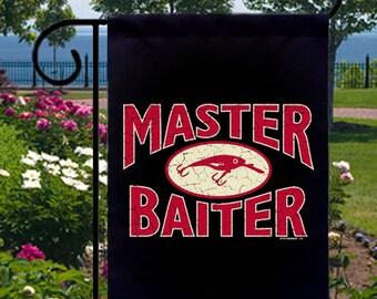 Master Baiter Fishing Lure New Small Garden Flag, Fisherman Humor