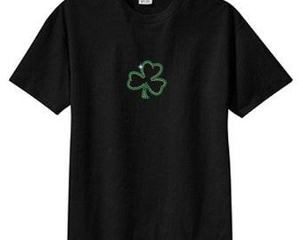 Rhinestone Shamrock New T Shirt Irish St Paddys Plus Sizes To 5X