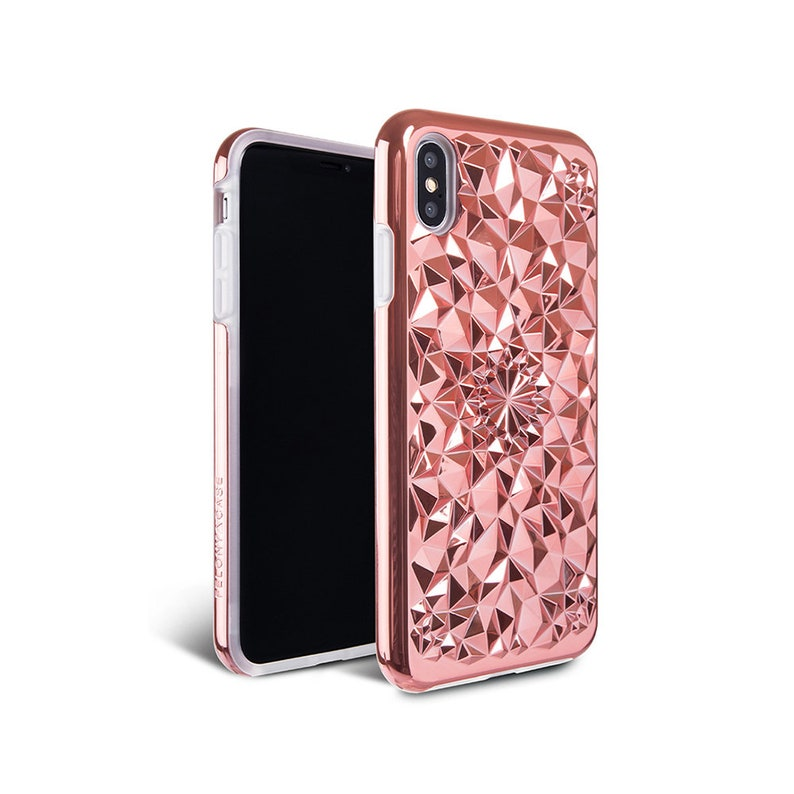 iPhone XS Max Case // Rose Gold iPhone XS Max Kaleidoscope Case , 360º 6  Foot Drop Protection iPhone XS Max Case by Felony Case