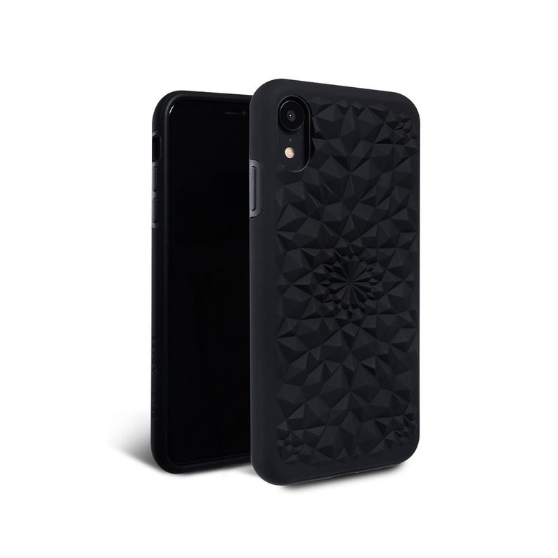 new arrival 108c7 087b8 iPhone XR Case // Matte Black iPhone XR Kaleidoscope Case - Protective  iPhone XR Case by Felony Case