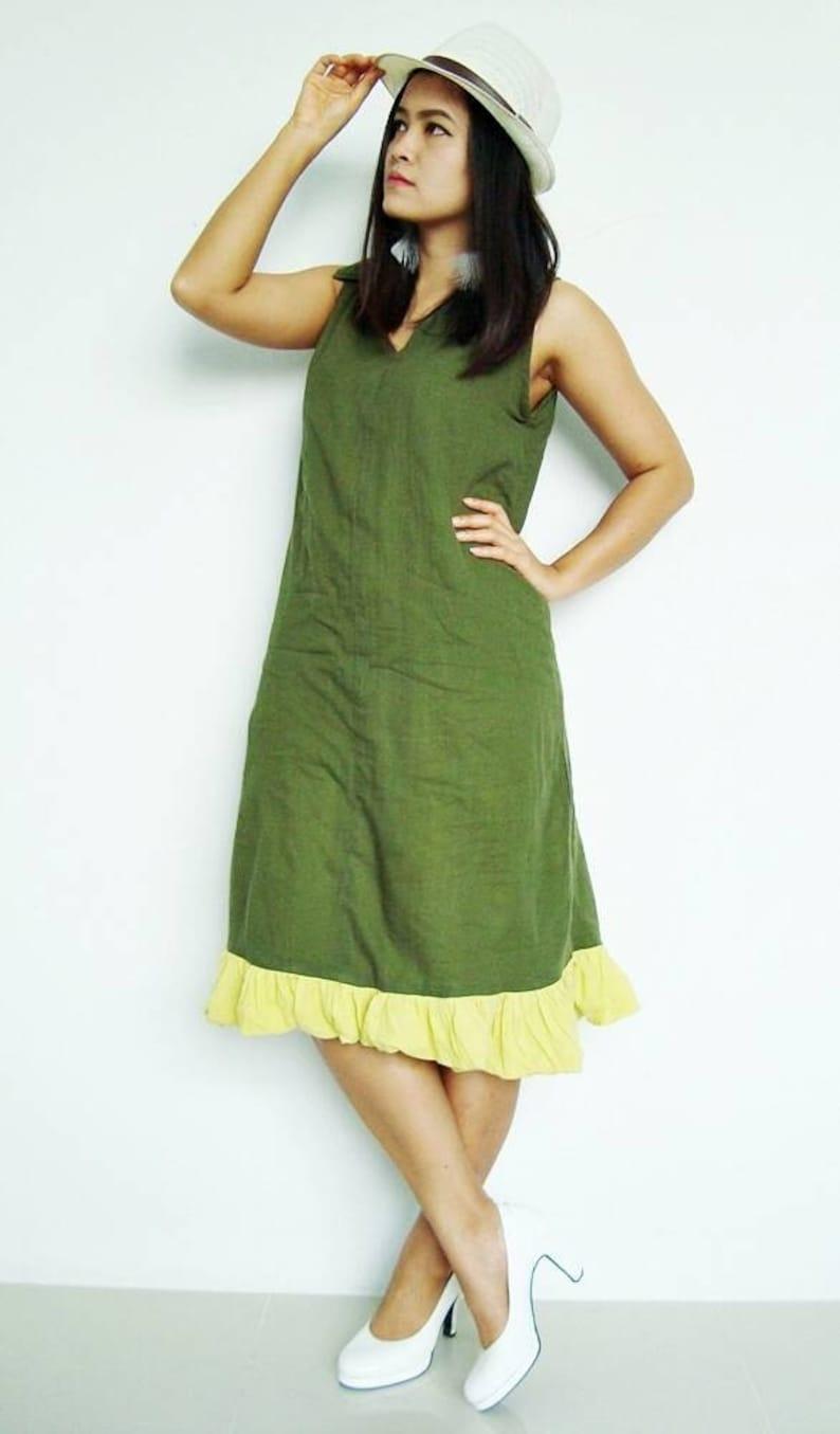 dd1b8de66c516 Lovely Sexy Beautiful green Maxi cotton Dress (Free Shipping)