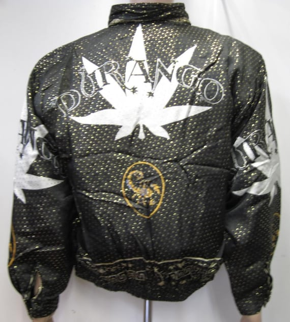Vintage 1990's Baroque style Bomber Jacket Metall… - image 1