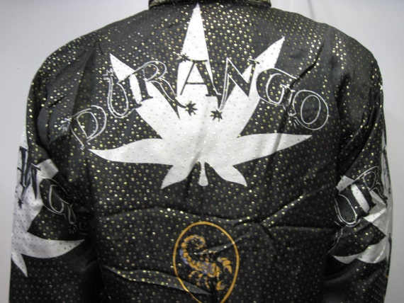 Vintage 1990's Baroque style Bomber Jacket Metall… - image 3